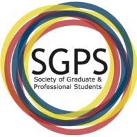 Society of Graduate and Professional Students tricolour logo