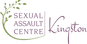 Sexual Assault Centre logo, purple with green plant