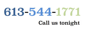 Telephone aid line logo, reads 613-544-1771, call us tonight
